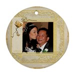 Je Taime Daddy single sided ornament - Ornament (Round)