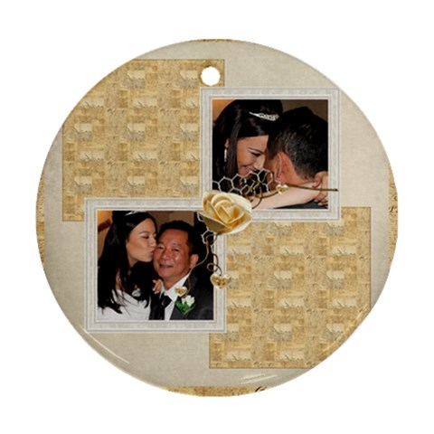 Je taime Daddy 2 Single Sided Ornament By Catvinnat   Ornament (round)   I4e9sd2npxya   Www Artscow Com Front