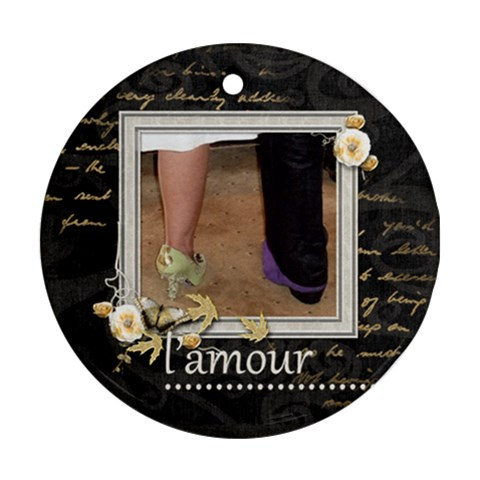 L amour  Single Sided Ornament By Catvinnat   Ornament (round)   X2ymvn4o1elb   Www Artscow Com Front
