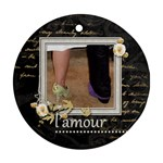 L amour  single sided ornament - Ornament (Round)