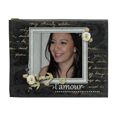 L amour Extra Large Cosmetics Bag By Catvinnat   Cosmetic Bag (xl)   Wel6wq0iq21o   Www Artscow Com Front