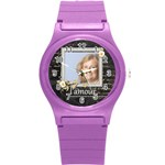 L amour Watch - Round Plastic Sport Watch (S)