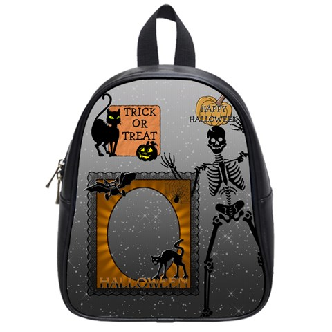 Happy Halloween Candy Bag (small School Bag) By Lil    School Bag (small)   5qva539wxn3l   Www Artscow Com Front