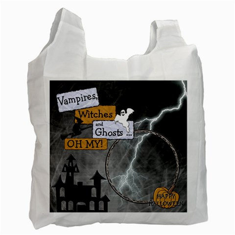 Halloween Candy Recycle Bag By Lil    Recycle Bag (one Side)   Dz9wirk49noa   Www Artscow Com Front