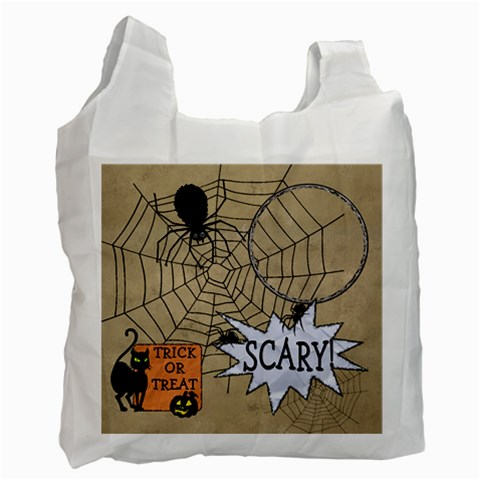 Trick Or Treat Candy Recycle Bag By Lil    Recycle Bag (one Side)   Rjmoct60z0mi   Www Artscow Com Front