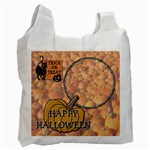 Pumpkin Trick or Treat Recycle Bag - Recycle Bag (One Side)