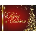 Merry Christmas 3D Circle Christmas Card 2 - Circle 3D Greeting Card (7x5)