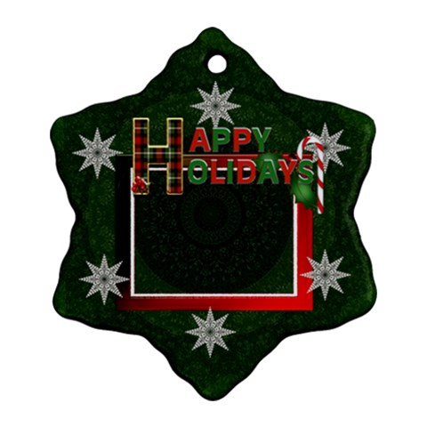 Happy Holidays Ornament By Lil    Ornament (snowflake)   Iiabzal8imfy   Www Artscow Com Front