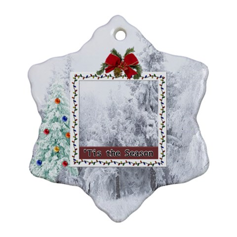 Tis The Season Ornament By Lil    Ornament (snowflake)   N980lwnoj1av   Www Artscow Com Front
