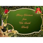 A Merry Christmas 3D heart Card - Heart Bottom 3D Greeting Card (7x5)