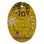 Joy Oval Ornament - Ornament (Oval)