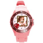 love - Round Plastic Sport Watch (L)