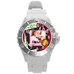 abc - Round Plastic Sport Watch (L)