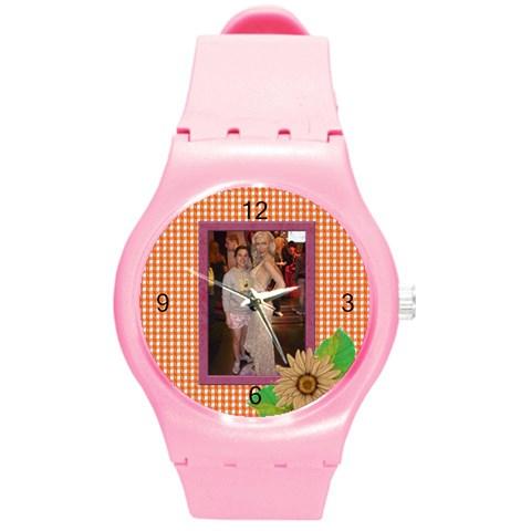 Elegant Round Plastic Sport Watch Medium By Deborah   Round Plastic Sport Watch (m)   Erpwwxyrsi0y   Www Artscow Com Front