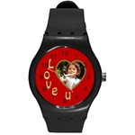 Love U Round Plastic Sport Watch Medium - Round Plastic Sport Watch (M)