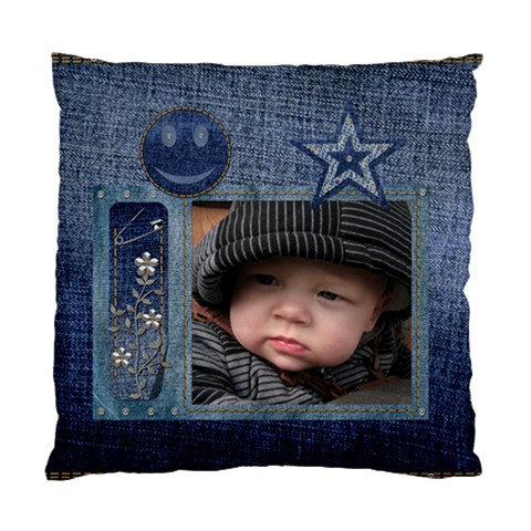 Denim Cushion Case (1 Sided) By Lil    Standard Cushion Case (one Side)   Edapkproikhw   Www Artscow Com Front
