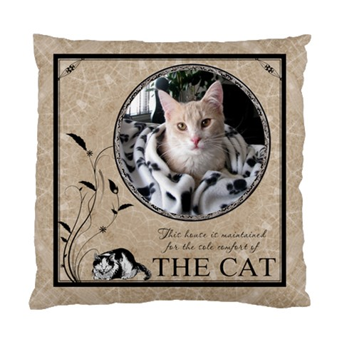 Cat Cushion Case (1 Sided) By Lil    Standard Cushion Case (one Side)   2oz6lmbslwow   Www Artscow Com Front