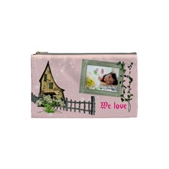 Love Cometic Bag2 By Jenc   Cosmetic Bag (small)   Iq5vfsqr4p0n   Www Artscow Com Front