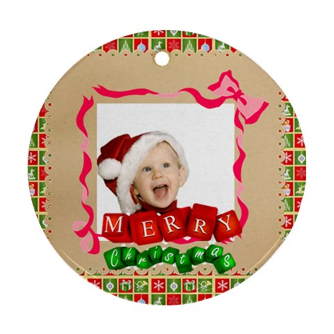 Xmas By Man   Ornament (round)   S4x23tleu0n2   Www Artscow Com Front