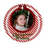 Candy Stripe Ornament - Ornament (Round)