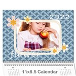 flower theme - Wall Calendar 11 x 8.5 (12-Months)