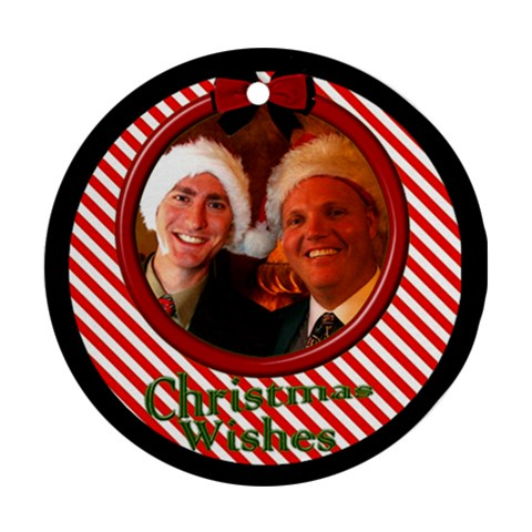 Little Candy Stripe Ornament By Deborah   Ornament (round)   Ii4dgw1k8vvo   Www Artscow Com Front