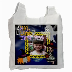Halloween Trick Or Treat Recycle Bag By Kim Blair   Recycle Bag (two Side)   Gs4x28ip6bdw   Www Artscow Com Front