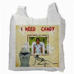 Trick Or Treat Recycle Bag 2 By Kim Blair   Recycle Bag (two Side)   Ezzqhlg68j1i   Www Artscow Com Back
