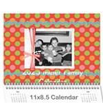 2015 Family Calendar 2 - Wall Calendar 11  x 8.5  (12-Months)
