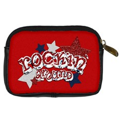 Rockin  Around The Christmas Tree Camera Bag 1 By Lisa Minor   Digital Camera Leather Case   Cdeuio5y50dy   Www Artscow Com Back