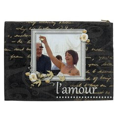 L amour Xxl Cosmetics Bag By Catvinnat   Cosmetic Bag (xxl)   J0fa22qhw8gu   Www Artscow Com Back