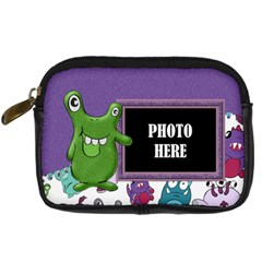 Monster Party Camera Bag 2 By Lisa Minor   Digital Camera Leather Case   Rkwpoblm1tzl   Www Artscow Com Front