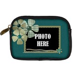 Covered in Teal Camera Case 2 - Digital Camera Leather Case