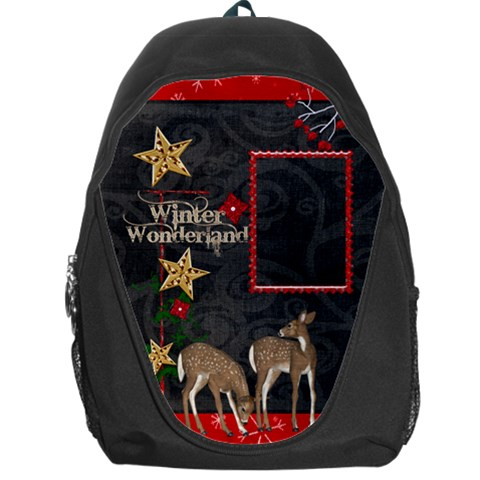 Winter Wonderland Backpack By Catvinnat   Backpack Bag   Fdj654in43fu   Www Artscow Com Front