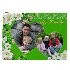 My Family Cosmetic Bag Xxl By Deborah   Cosmetic Bag (xxl)   H3tmu5b3fbo0   Www Artscow Com Front