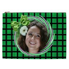 Lovin Green Cosmetic Bag Xxl By Deborah   Cosmetic Bag (xxl)   D1kusttq2q8k   Www Artscow Com Front