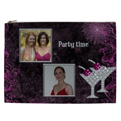 Party Time Cosmetic Bag Xxl By Deborah   Cosmetic Bag (xxl)   D0g1rfo4g8lz   Www Artscow Com Front
