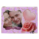 Pink Sweet Love Cosmetic Bag XXL - Cosmetic Bag (XXL)