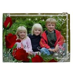 Love Red Rose Cosmetic Bag Xxl By Deborah   Cosmetic Bag (xxl)   Ucugvgd8u9d7   Www Artscow Com Back