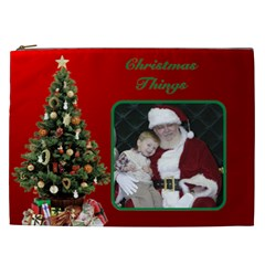 Christmas Things Cosmetic Bag 2 Xxl By Deborah   Cosmetic Bag (xxl)   7cyc9kr5whqb   Www Artscow Com Front