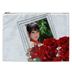 Framed With Roses Cosmetic Bag Xxl By Deborah   Cosmetic Bag (xxl)   Dpldlsbuy3ga   Www Artscow Com Front