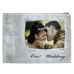 Our Wedding Cosmetic Bag Xxl By Deborah   Cosmetic Bag (xxl)   Fzadebsxwvhx   Www Artscow Com Back