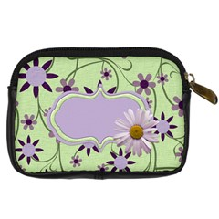 Lavender Rain Camera Case 2 By Lisa Minor   Digital Camera Leather Case   Rq85sxzgo2qz   Www Artscow Com Back