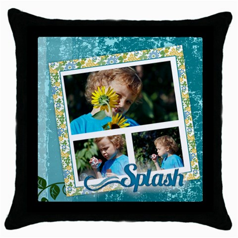 Splash By Jacob   Throw Pillow Case (black)   Zupf1evzg3h9   Www Artscow Com Front