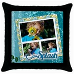 splash - Throw Pillow Case (Black)