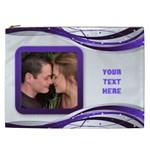 Purple Swirl Cosmetic Bag XXL - Cosmetic Bag (XXL)