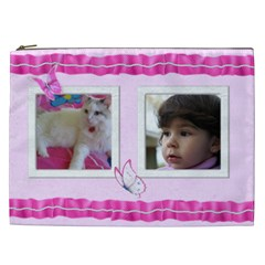 Pretty Pink Cosmetic Bag Xxl By Deborah   Cosmetic Bag (xxl)   0t3f87need39   Www Artscow Com Front