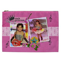 Cosmetic Bag (xxl)  Rock Princess By Jennyl   Cosmetic Bag (xxl)   Y47owty1h4qa   Www Artscow Com Front