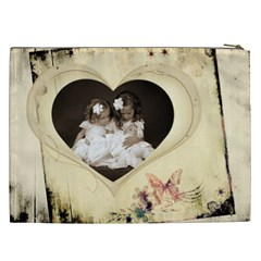 Child Of My Heart Xxl Cosmetics Bag By Catvinnat   Cosmetic Bag (xxl)   Am9znhb4aedi   Www Artscow Com Back