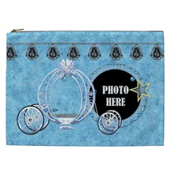 Ella In Blue Xxl Cosmetic Bag 1 By Lisa Minor   Cosmetic Bag (xxl)   Uk138nx4r2ia   Www Artscow Com Front